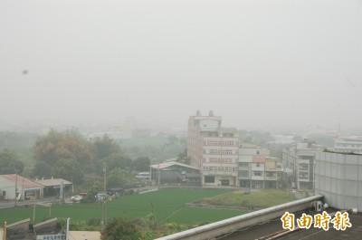 去年細懸浮微粒(PM2.5)平均值 雲嘉南最差