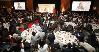 首度以台灣總統身分到紐約 蔡英文僑宴110桌爆滿!