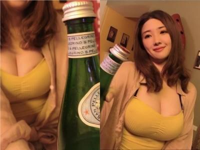巨乳正妹瓶蓋挑戰超火辣!網暴動狂噴鼻血