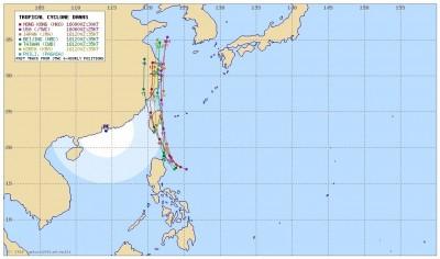 太平洋高壓東退 輕颱丹娜絲恐成「擦邊球」 23:30發海警