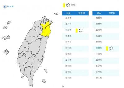 丹娜絲外圍環流影響 宜蘭、新北山區嚴防大雨