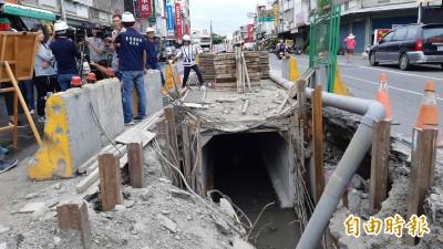 台東市漢陽北路防淹水 重建大口徑雨水下水道