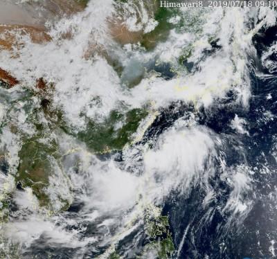 丹娜絲颱風加速遠離 熱帶擾動今深夜登陸南台灣