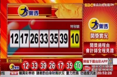 7/19 大樂透、雙贏彩、今彩539 開獎囉!