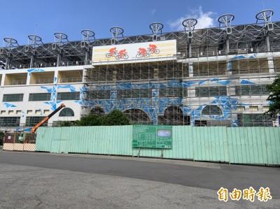 台中市自由車場已竣工 卻像一處大工地
