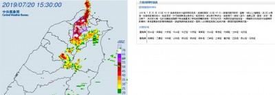 慎防雷擊、劇烈降雨!雙北25區發布大雷雨特報