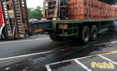 運磚車連撞27車致1人癱瘓 駕駛被提起公訴