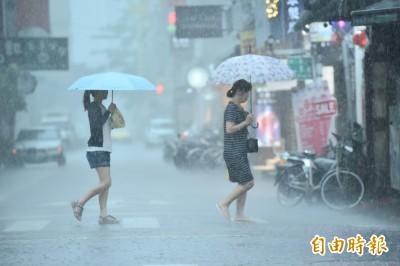 打雷暴雨 下班小心!全台升級17縣市豪、大雨特報