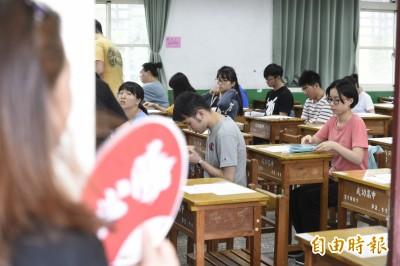 大學考試分發4萬2604人登記 錄取率頂多81%創史上新低