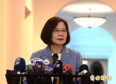 同享民主和言論自由 蔡總統:希望今日台灣是明日香港