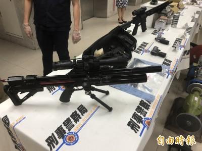 警署第4波肅槍緝獲78黑槍 鐵工廠小開改造「山豬殺手」賺暴利