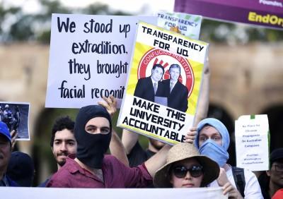 抗議中國孔子學院 澳洲大學生發起和平示威