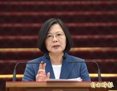 中國強化滲透 蔡英文:台灣人民應建構反滲透能量
