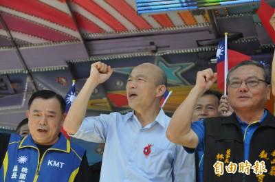 韓國瑜參香批蔡英文讓人民失望 熱情支持者高呼總統好