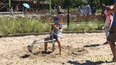 可以開怪手玩沙! 竹東二重親子公園啟用