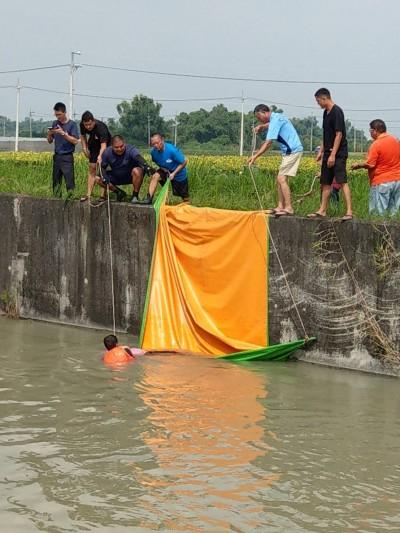 警義消嘉南大圳演練救溺 結果獲報撈起一具浮屍
