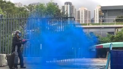 反送中》標記示威者?港警po「顏色水」影片引敏感聯想
