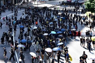 反送中》香港人集結! 7區湧現示威人潮