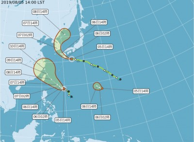 利奇馬颱風週四、五最靠近台灣 氣象局:不排除登陸