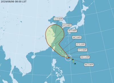 利奇馬颱風持續增強 氣象局:最快明發布海警