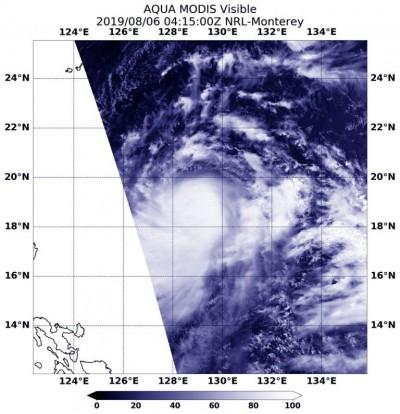 利奇馬增強為中颱 NASA:颱風中心有強烈暴風雨
