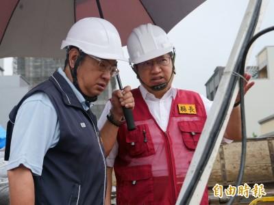 利奇馬颱風來襲 楊文科視察下水道清淤、溝貝水門