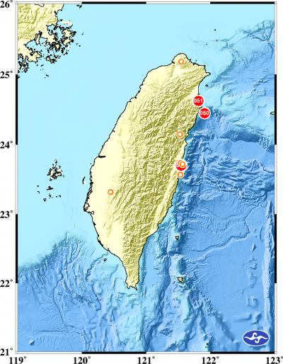 88宜蘭強震》清晨連兩震 氣象局:正常能量釋放 皆為獨立地震