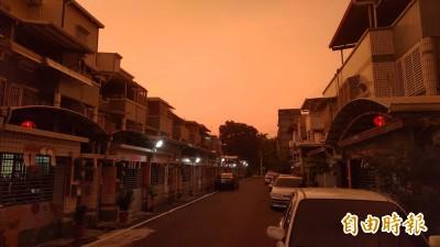 颱風「濾鏡」?利奇馬來襲前 屏東天空一片紅