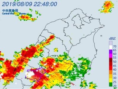 小心雷雨!氣象局針對台中、南投地區發布警示