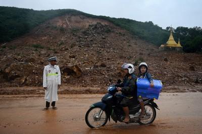 緬甸大雨不斷 土石流釀至少34死、47傷