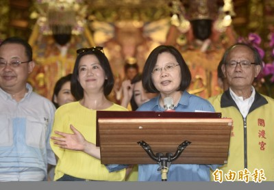 赴北投走廟 蔡英文:把台灣的主權、民主、自由顧好留給子孫
