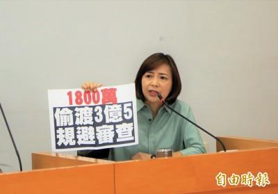 中市議會審查台灣燈會預算墊付案 藍綠議員同聲譴責她
