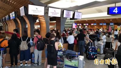 香港機場關閉 台港航空客運今明取消57航班