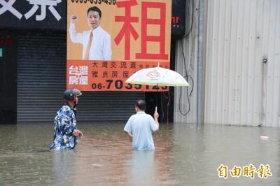 台南暴雨》仁德派出所淹掉了!解除9淹水管制路段