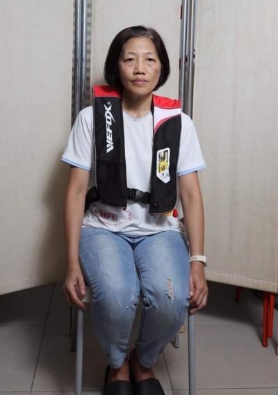 宜縣漁工職業工會李麗華  募集40件自動充氣式救生衣