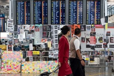 香港機場暫停報到 台港航線晚間受影響