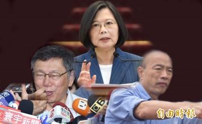 綠黨挺小英  不讓韓國瑜當選、柯文哲見縫插針