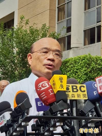 韓國瑜要求警方巡工地扛公安 蘇貞昌:不該這樣操警察!