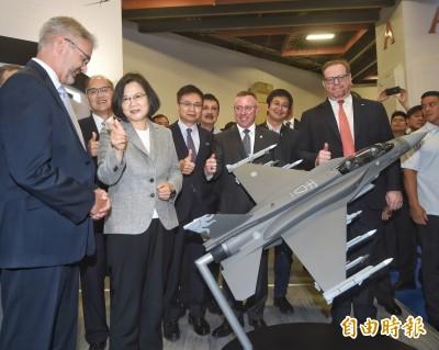 親身體驗模擬器  蔡英文爭取採購F-16V向美方喊話