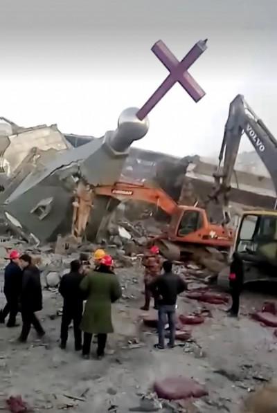 手法曝光!中國惡騙教堂充公 強行無償改建娛樂場所