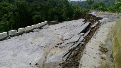 連續大雨 雲林道路塌陷、預防撤離25人