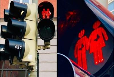 德國「紅綠燈小人」肚子裡有蝴蝶?居然是談戀愛了!