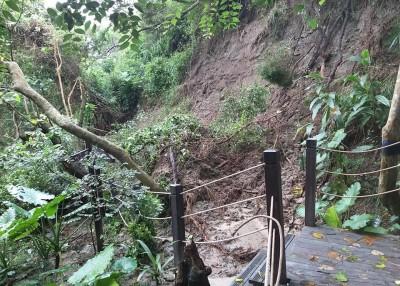 雨彈狂炸!大肚馬路成河 登山步道也崩塌