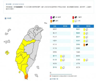 「台中以南」民眾注意!8縣市大雨特報、屏東豪雨警戒