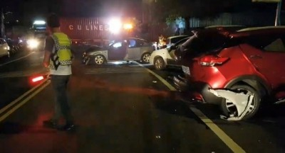 精神恍惚連撞3車 肇事駕駛竟是通緝犯