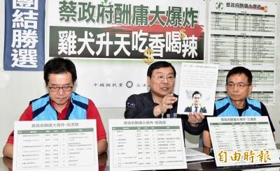 點名泛公股36人酬庸 藍委:下架民進黨