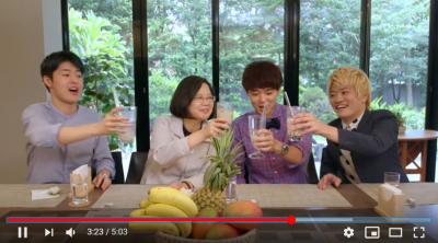 小英與日本人氣youtuber三原Japan 用美食宣傳台灣觀光