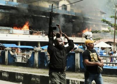 不滿被歧視!印尼巴布亞再爆示威 縱火燒市場