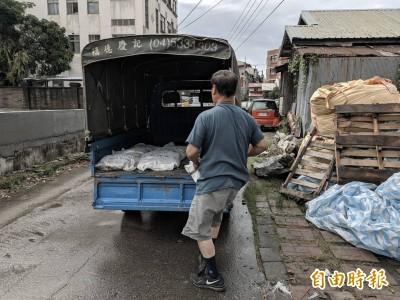 白鹿颱風逼近 中市府發沙包戒備