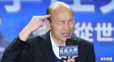 韓流退散? 最新民調出爐 韓國瑜首度跌破三成!